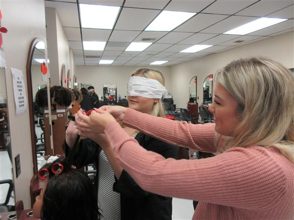 Senior Cosmetology Can Perform Roller Sets With Their Eyes Closed :)