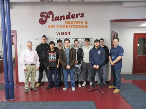 H.V.A.C. visits Flanders Heating and Air Conditioning
