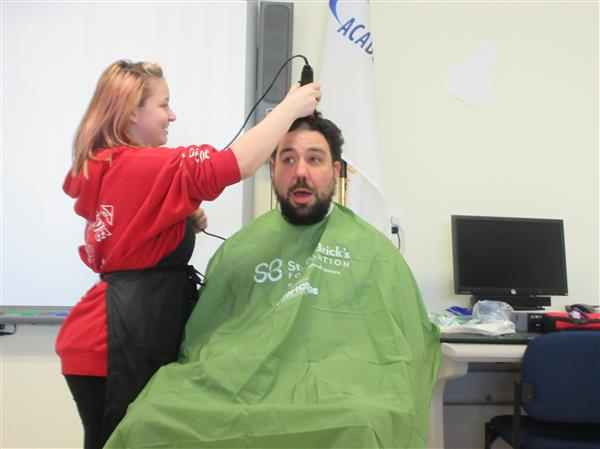Ward Tech Students and Staff Brave the Shave