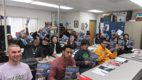 Audio Production Students Enjoy Their Magazine Subscriptions