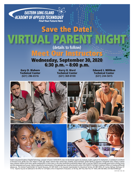 Virtual Parent Night Flyer