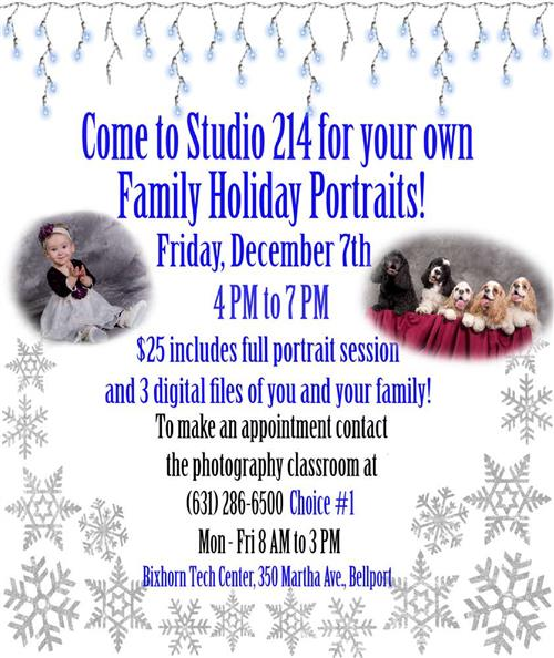 HOLIDAY PHOTO SHOOT - BOOK YOUR APPOINTMENT NOW!