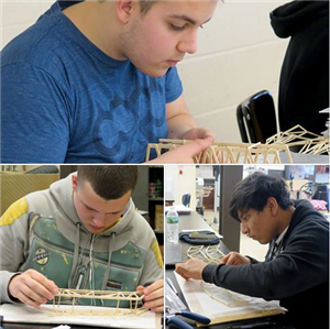 ENGINEERING STUDENTS QUALIFY/COMPETE IN BROOKHAVEN NATIONAL LABORATORY REGIONAL MODEL BRIDGE CONTEST - MARCH 25, 2017