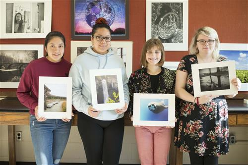 PROFESSIONAL PHOTOGRAPHY & DIGITAL IMAGING STUDENTS CONTRIBUTE ARTWORK FOR THE BARE WALLS ARTSHOW - DECEMBER 13, 2018