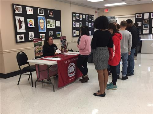STUDENTS ATTEND COLLEGE FAIR HELD AT ACADEMY AT BTC