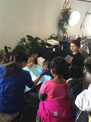 STUDENT'S ATTENDING MS. DONOHUE'S DENTAL ASSISTING PROGRAM PARTICIPATE IN GIVE KIDS A SMILE EVENT