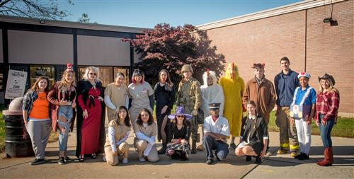 Students join in some Halloween fun