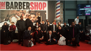BARBERING STUDENTS ATTEND IBS SHOW - JACOB JAVITS CENTER NYC