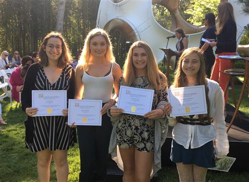 ACADEMY AT BTC RECEIVE AWARDS AT THE STUDENT ANNUAL Xl AWARDS CEREMONY, LONGHOUSE RESERVE, EAST HAMPTON