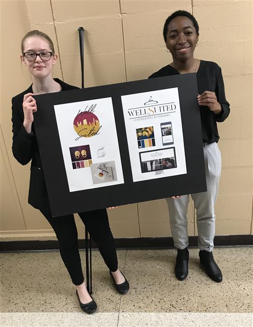 Janay Winston & Rebecca Shackelford win 3rd place for Graphic Design presentation