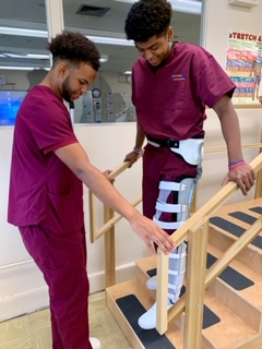 PHYSICAL THERAPY AIDE STUDENTS PUT SKILLS LEARNED IN CLASS INTO ACTION