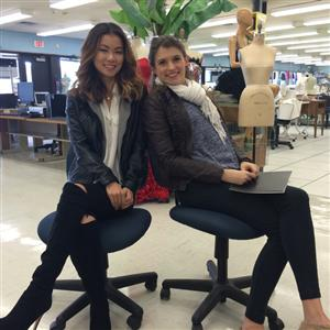 FORMER FASHION MERCHANDISING & DESIGN STUDENTS VISIT AND SHARE COLLEGE EXPERIENCE AND KNOWLEDGE
