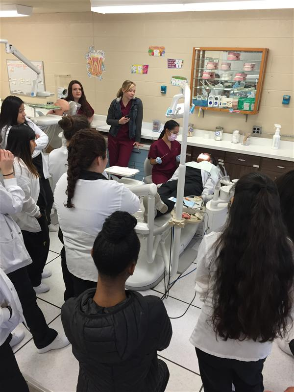 BRIARCLIFFE STUDENTS VISIT MS. DONOHUE'S DENTAL ASSISTING CLASS