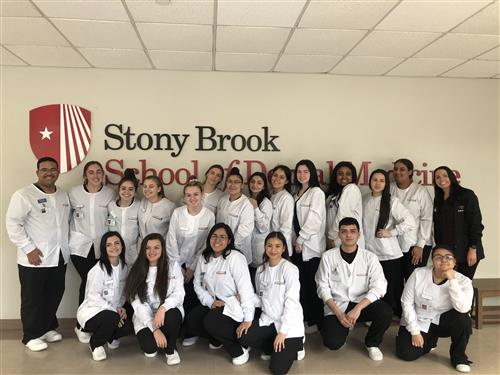 DENTAL CHAIRSIDE ASSISTING STUDENTS TOUR STONY BROOK DENTAL SCHOOL