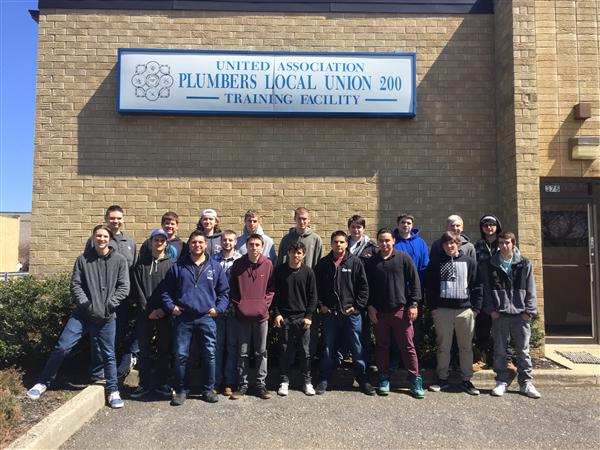 MR. ESPOSITO'S PLUMBING & HEATING CLASS EXPLORE CAREER OPPORTUNITIES AT LOCAL PLUMBERS UNION