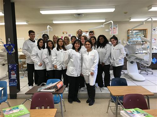 ALUMNI-DENTAL CHAIRSIDE ASSISTING VISITS MS. DONOHUE'S CLASS- IS NOW A SUCCESSFUL DENTAL ASSISTANT