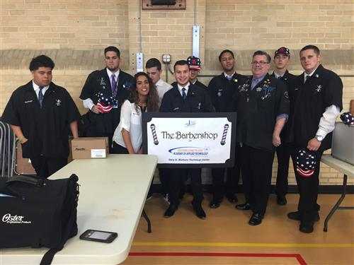 BARBERING STUDENTS PROVIDE SALON SERVICES TO HOMELESS VETERANS