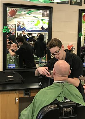 STAFF & STUDENTS BRAVE THE SHAVE FOR ST. BALDRICK'S FUNDRAISER