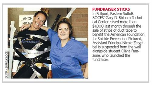 AMERICAN FOUNDATION FOR SUICIDE PREVENTION FUNDRAISER ARTICLE PUBLISHED IN NEWSDAY - CLICK HERE TO READ ARTICLE