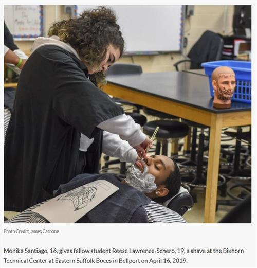 ARTICLE FEATURING MR. RICCIARDO'S BARBERING STUDENTS WAS PUBLISHED IN NEWSDAY, APRIL 17, 2019 - CLICK HERE TO VIEW ARTICLE