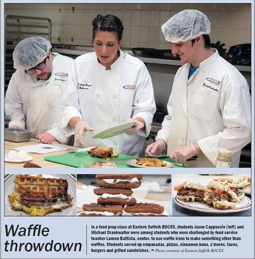 ARTICLE FEATURING MS. BATTISTA'S FOOD PREP CLASS WAFFLE THROWDOWN IS FEATURED IN ON BOARD MAGAZINE