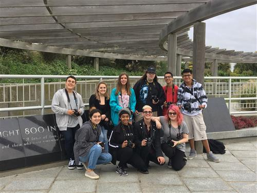 Prof. Photography students visit Flight 800 Memorial at Smith Point Beach