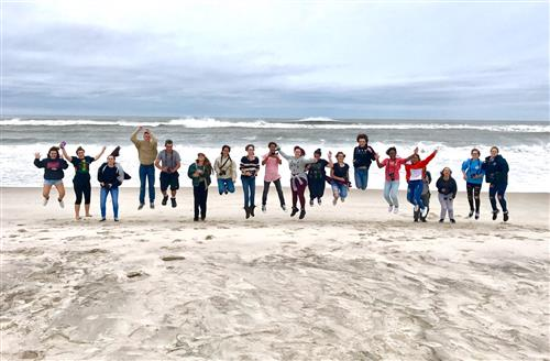 Prof. Photography students tap into their creativty at Smith Point Beach