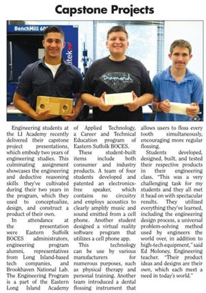 ACADEMY ENGINEERING STUDENTS PRESENT CAPSTONE PROJECT - ARTICLE FEATURED IN SOUTH BAY NEWS