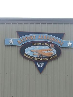 STUDENTS ATTENDING THE PROFESSIONAL PILOT TRAINING PROGRAM VISIT THE BAYPORT AERODROME SOCIETY!