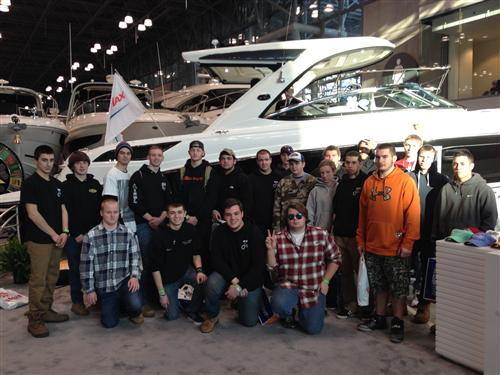 MARINE/MOTORSPORT STUDENTS MAKE INDUSTRY CONTACTS AT NY BOAT SHOW