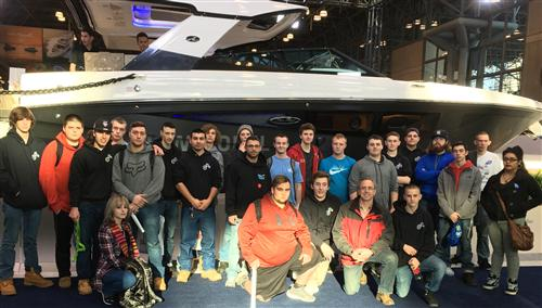 MARINE/MOTORSPORTS TECHNOLOGY STUDENTS VISIT THE LARGEST BOAT SHOW IN THE NORTHEAST