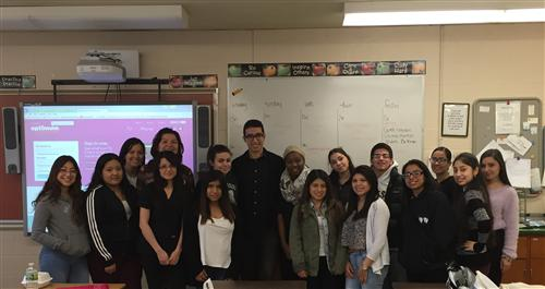 DR. MICHAEL SHERMAN-DEDICATED IN FAMILY DENTISTRY/BAY SHORE VISITS STUDENTS ATTENDING MS. DONOHUE'S DENTAL ASSISTING PROGRAM!