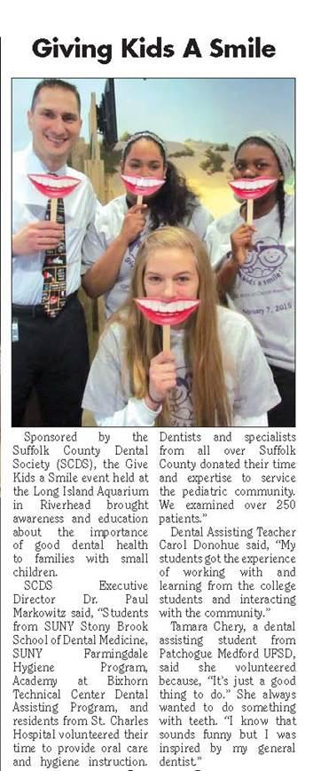 DENTAL ASSISTING STUDENTS IN THE NEWS-GIVING KIDS A SMILE