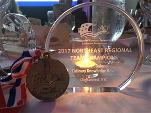 MS. JILL HAMILL, TEACHER ASSISTANT, FOOD PREPARATION PROGRAM, WINS FIRST PLACE AT THE ACF CULINARY KNOWLEDGE BOWL