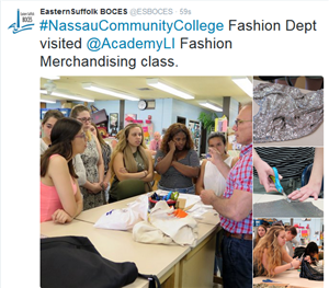 PROFESSOR'S FROM NASSAU COMMUNITY COLLEGE PROVIDE PRESENTATION TO MS. SIMS FASHION MERCHANDISING STUDENTS