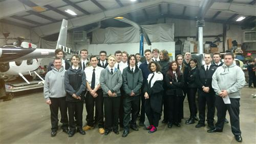 PROFESSIONAL PILOT TRAINING STUDENTS ATTEND WORKSITE TOUR OF EASTERN HELICOPTER