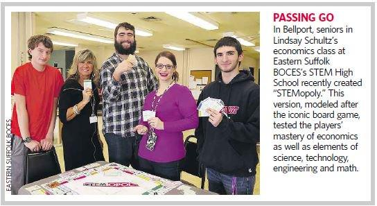 ARTICLE FEATURING STEM H.S. STEMOPOLY GAME IS PUBLISHED IN NEWSDAY