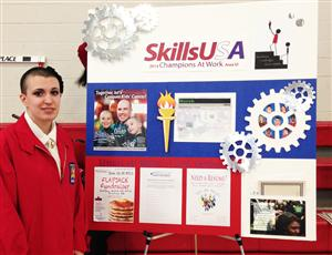 Ms. Cliffe's student Amanda Giattino won 1st place for Area VI Pin Design & her team won 1st place for Promo Bulletin Board