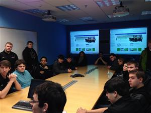 Mr. Chiarelli's students during tour of Computer Associates