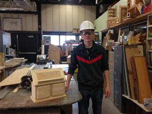 Mr. Nilsen's student David practicing for SkillsUSA State Competition