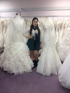 Ms. Sims Fashion Merhandising & Design student out on her internship at a local bridal store