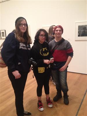 Ms. Grafer's Photography students in one of the Photography Galleries in the Museum of Modern Art