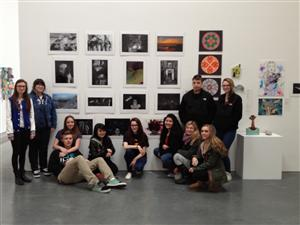 Student exhibition at Parrish Art Museum in Watermill